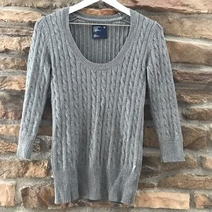 Grey American Eagle knit sweater (Medium)